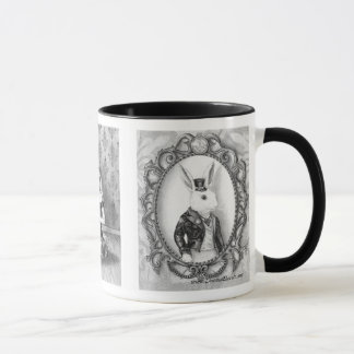 Alice in Wonderland Mug Mad Hatter Mug White Rabbi