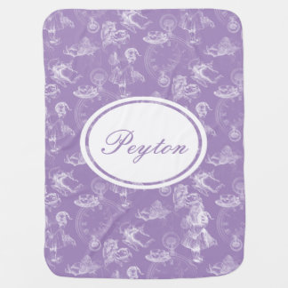 Alice in Wonderland Name Tea Time Lavender Blanket