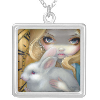 Alice in Wonderland NECKLACE white rabbit FoF 141