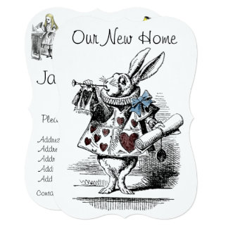 Alice in Wonderland New Home Announcement Card
