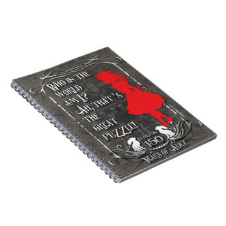 "Alice-In-Wonderland Notebook ""Who Am I?"""