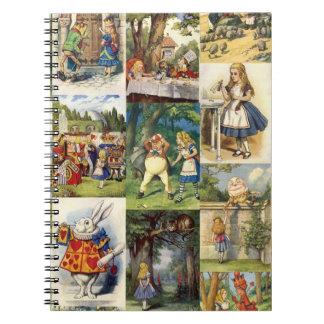 Alice in wonderland notepad note book