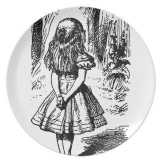 Alice in Wonderland - original illustration Plate