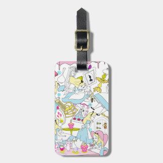 Alice in Wonderland | Oversized Pattern Luggage Tag