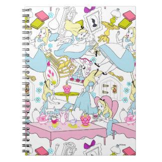 Alice in Wonderland | Oversized Pattern Spiral Notebook