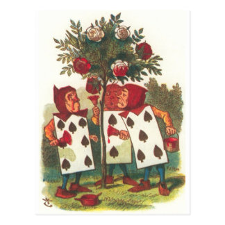 Alice in Wonderland - Painting the Roses Red! Postcard