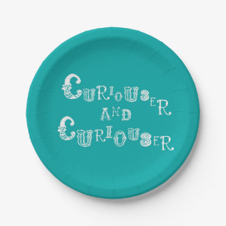 Alice In Wonderland Paper Plate Curious