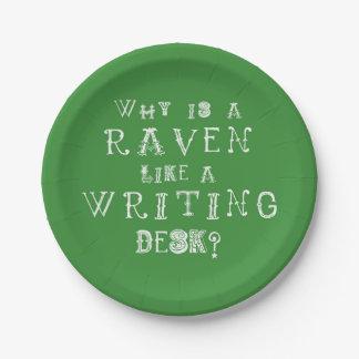 Alice In Wonderland Paper Plate Raven