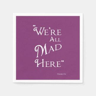 Alice in Wonderland Party Napkins - Mad Paper Napkins