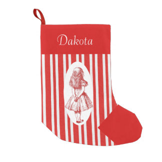 Alice in Wonderland Personalize Christmas Stocking