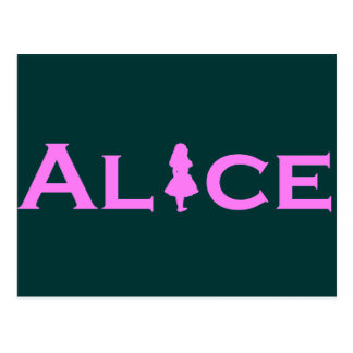 Alice In Wonderland Pink Postcard