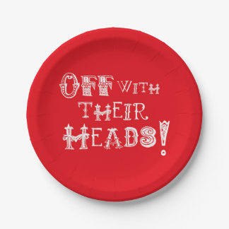 Alice In Wonderland Plates Off with Their Heads
