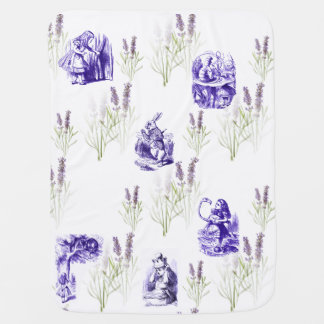 Alice in Wonderland Purple Lavender Baby Blanket