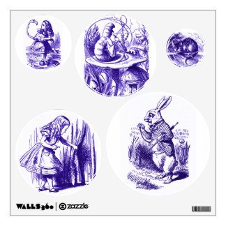 Alice in Wonderland Purple Wall Decals