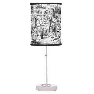 Alice in Wonderland, Queen of Hearts, Custom Desk Lamps