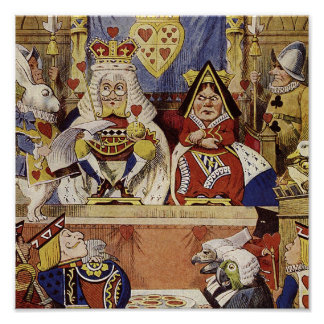 Alice in Wonderland Queen's Court Print