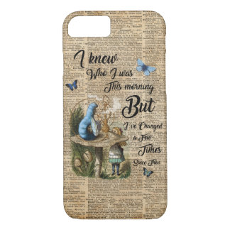 Alice in Wonderland Quote Vintage Dictionary Art iPhone 8/7 Case