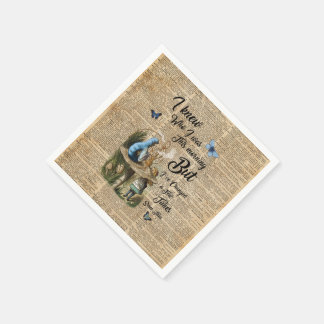 Alice in Wonderland Quote Vintage Dictionary Art Paper Napkin
