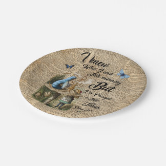 Alice in Wonderland Quote Vintage Dictionary Art Paper Plate