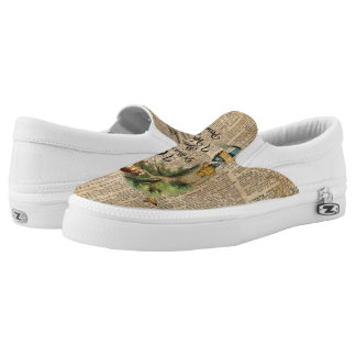 Alice in Wonderland Quote Vintage Dictionary Art Slip-On Sneakers