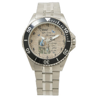 Alice in Wonderland Quote Vintage Dictionary Art Wrist Watches