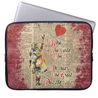 Alice in Wonderland Quote Vintage Laptop Sleeve