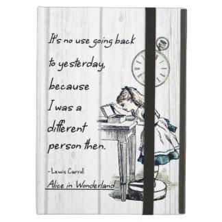 Alice in Wonderland Quotes iPad Air Cover