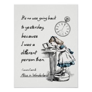 Alice In Wonderland Quotes Posters Prints Poster Printing Zazzle Ca