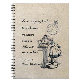 Alice in Wonderland Quotes Spiral Notebook