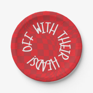 Alice in Wonderland - Red Plates  - Queen of Heart 7 Inch Paper Plate