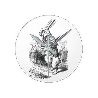 Alice in wonderland round clock