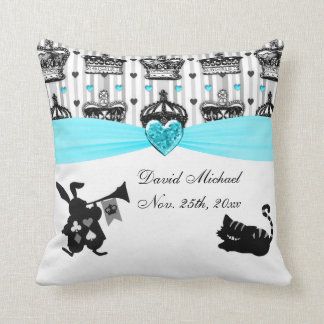 Alice In Wonderland Royal Crowns Baby Shower Throw Pillow
