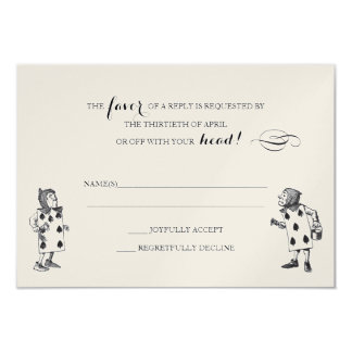 Alice in Wonderland RSVP Response Card