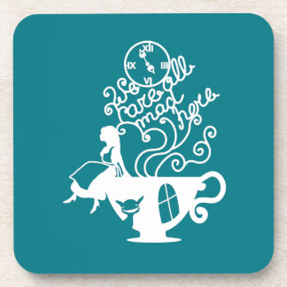 Alice in Wonderland. Silhouette illustration Coasters