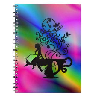Alice in Wonderland. Silhouette illustration Notebooks