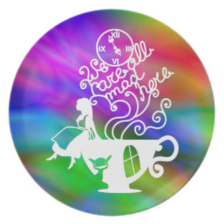 Alice in Wonderland. Silhouette illustration Party Plate