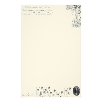 Alice in Wonderland Stationary Lewis Carroll Stationery Paper