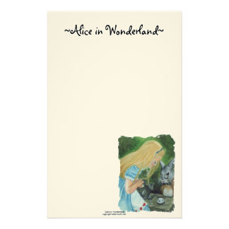 Alice in Wonderland Stationery