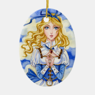 Alice in Wonderland steampunk ornament