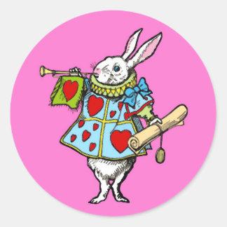 Alice in Wonderland ~ Sticker Rabbit Heart Red