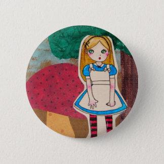 Alice in Wonderland - Stripped Socks 2 Inch Round Button