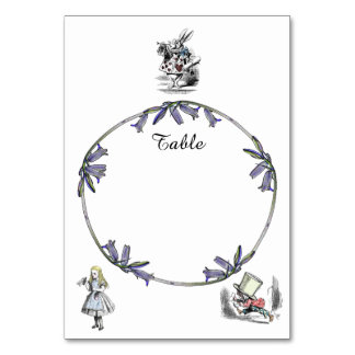Alice in Wonderland Table Card