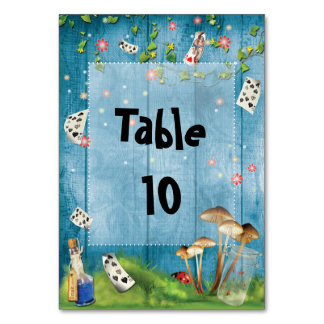 Alice in Wonderland Table number Card