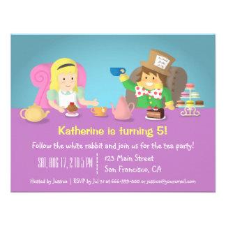Alice in Wonderland Tea Party Birthday Invitations