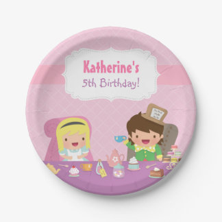 Alice in Wonderland Tea Party Birthday Supplies 7 Inch Paper Plate