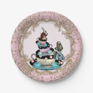Alice in Wonderland Tea Party Paper Plate