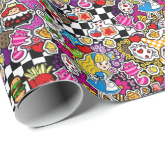 Alice in Wonderland Tea Party Supplies Wrapping Paper