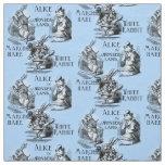 Alice in Wonderland Textile Fabric Blue