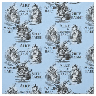 Alice in Wonderland Textile Fabric Blue