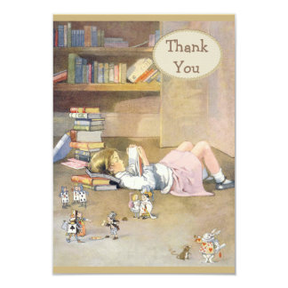 Alice in Wonderland Thank You Baby Shower Card